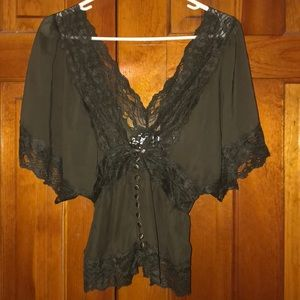F21 lacey top
